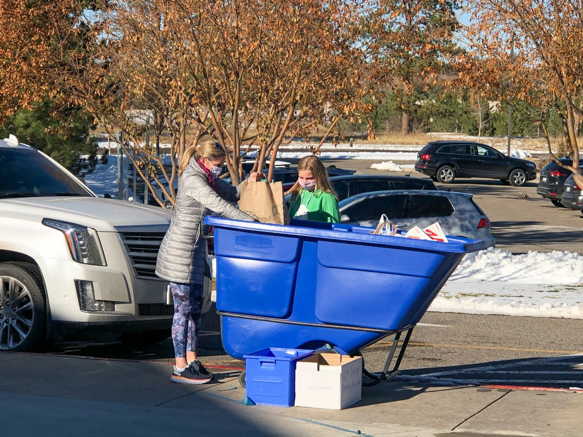 KDS Community Rallies for Food, Coat Drives