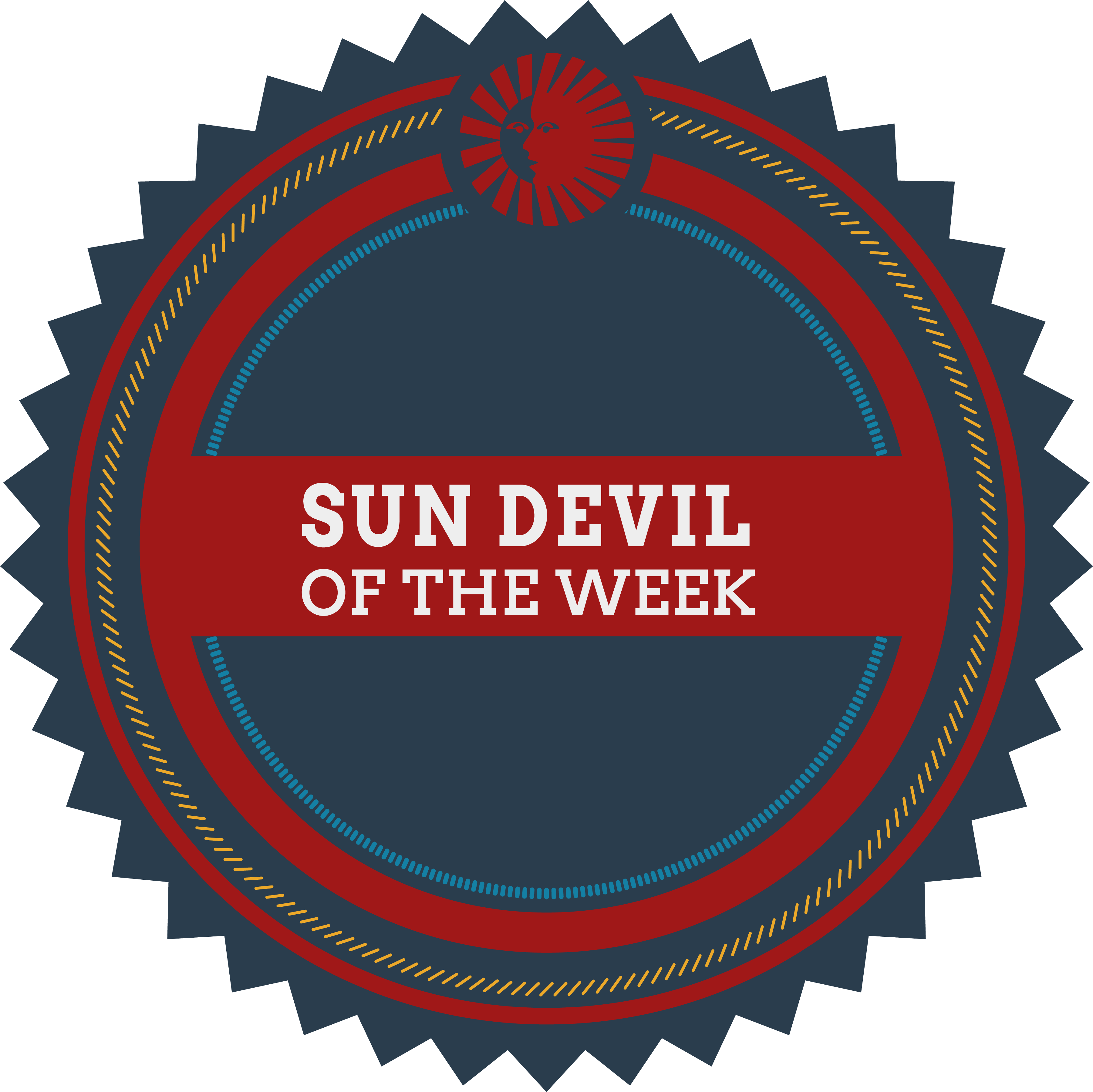 Badge reading Sun Devil of the Week