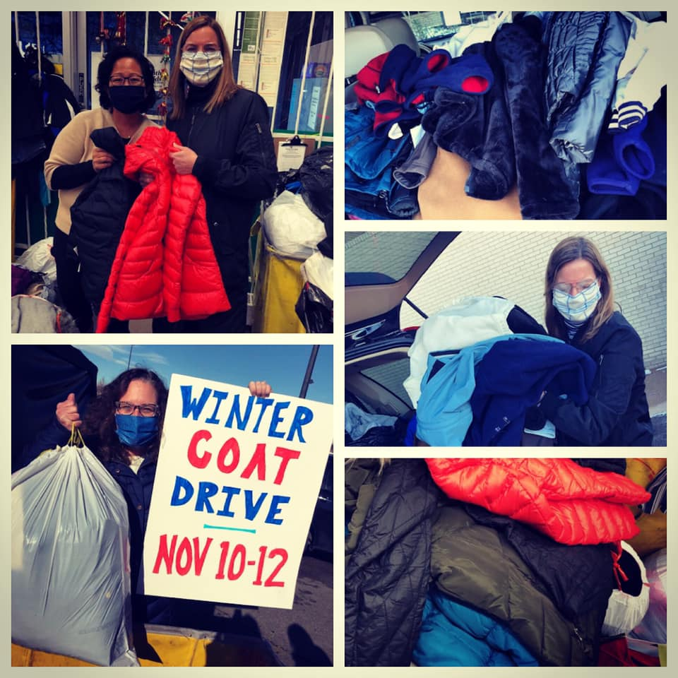 Photos of Clothing drive volunteers